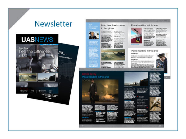 Aviation service company Newsletter layout