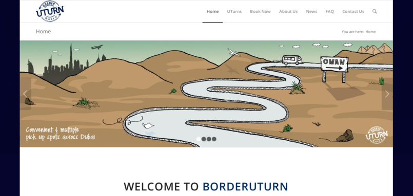 BorderUturn Dubai Website Illustrations