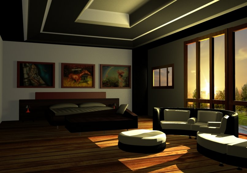 maya software models room