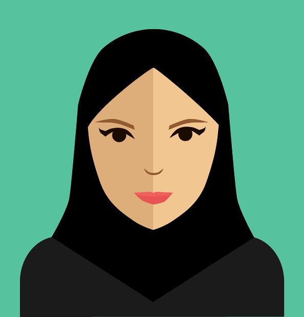 Flat character illustration