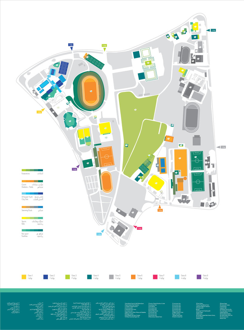 Map of the complex