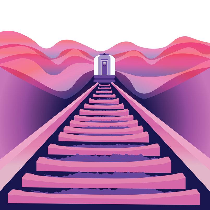 2d vector illustration -Train