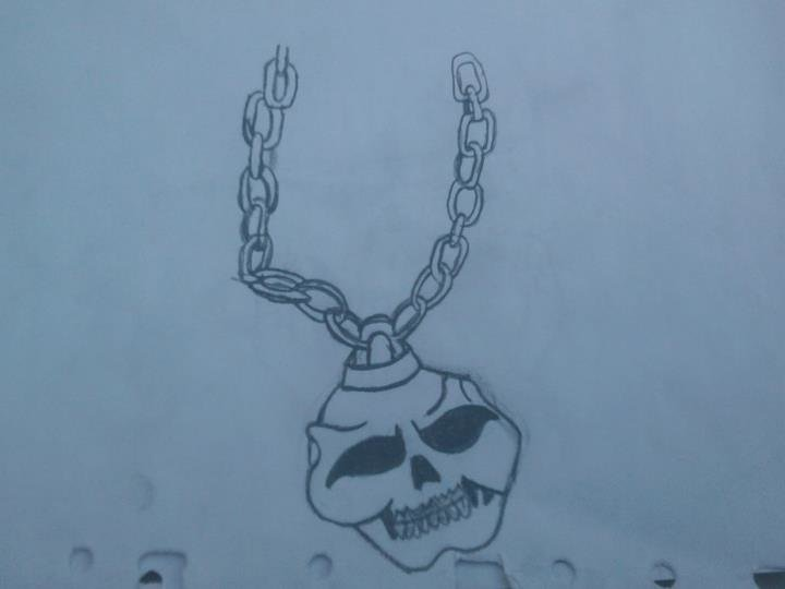 grafitti skull