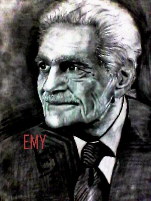 رسمه للفنان عمر الشريف