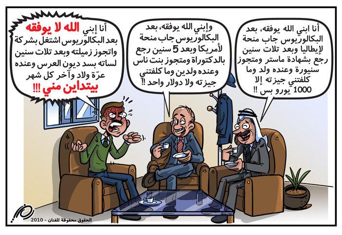 كاريكاتور الشباب والزواج