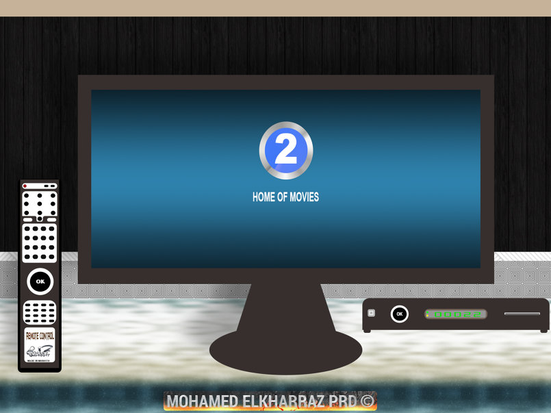 Tv With MBC 2 Logo & Remote Control And NMRQ