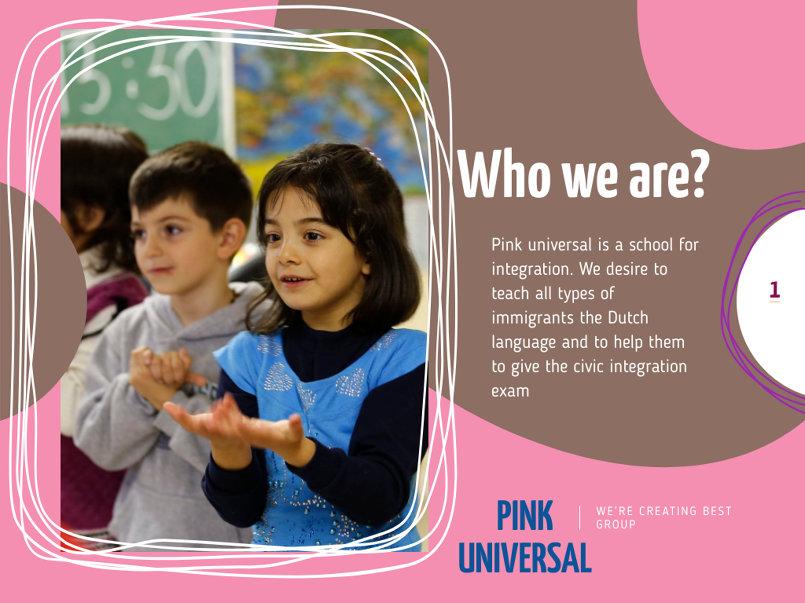 إنشاء عرض شرائح تقديمي لمدرسة لغات