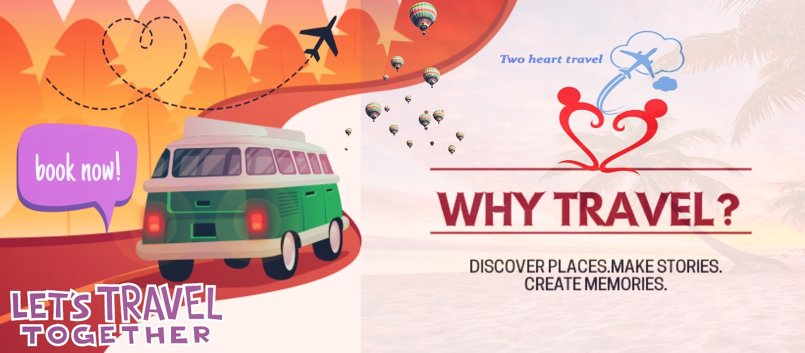 فلاير إعلان شركه سفر two heart travel
