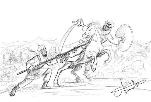 بعض أعمالي في مجال رسوم الكرتون