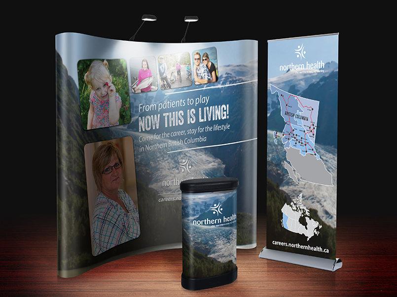 Northern Health BC Career Tradeshow Booth