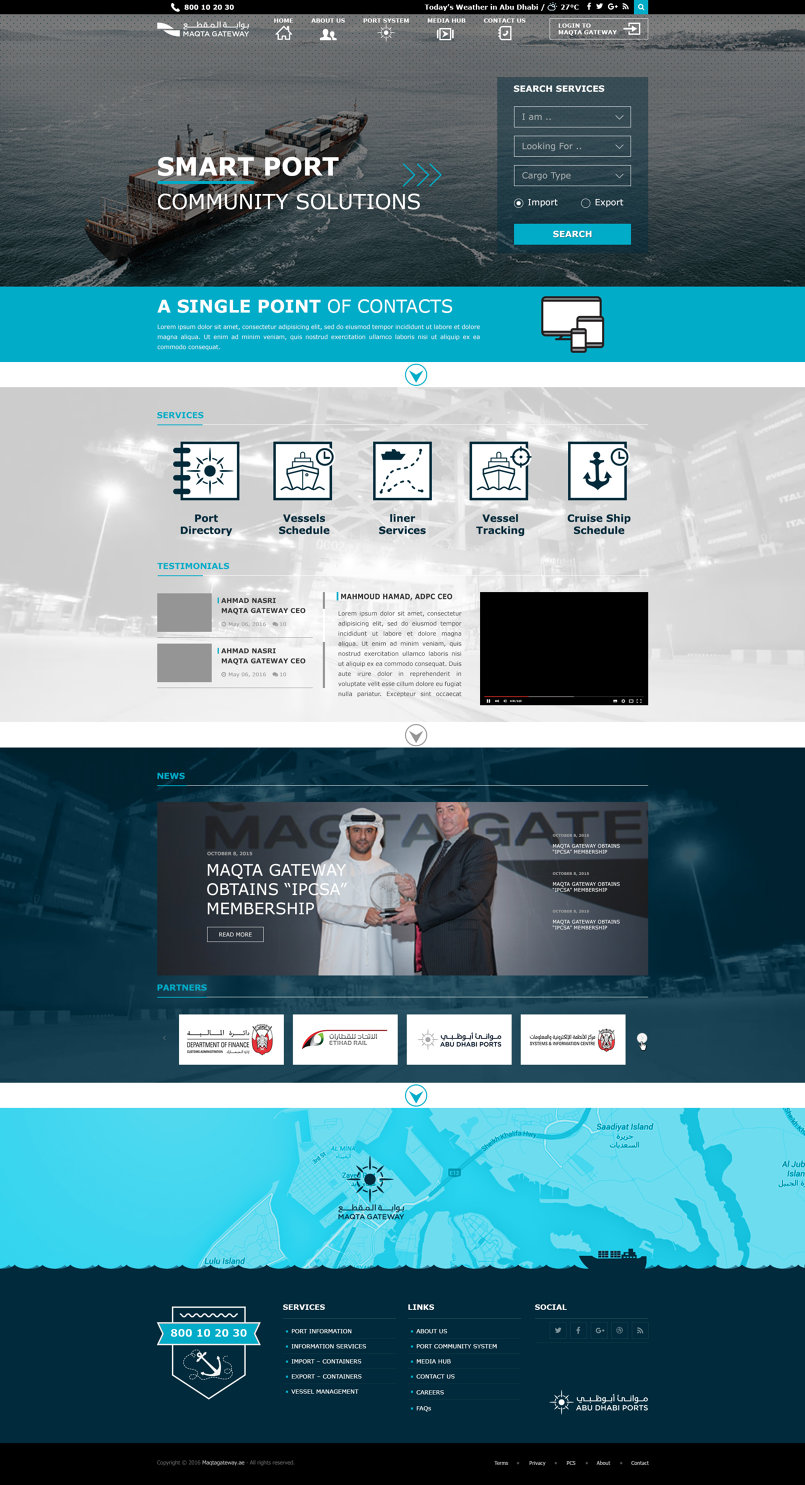 Maqta Gateway Website | Abu Dhabi Port