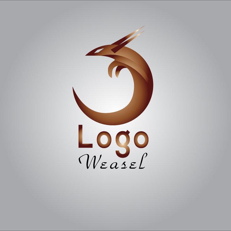 تصميم شعار بلون ذهبي