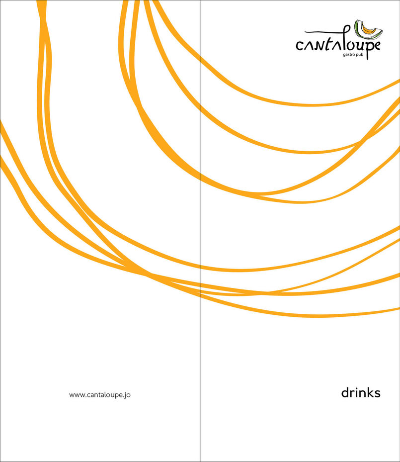 Cantaloupe's final drinks menu design