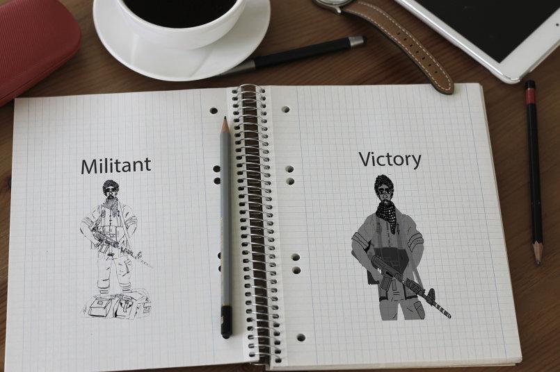 رسم شخصيات ومناظر العاب الجيم