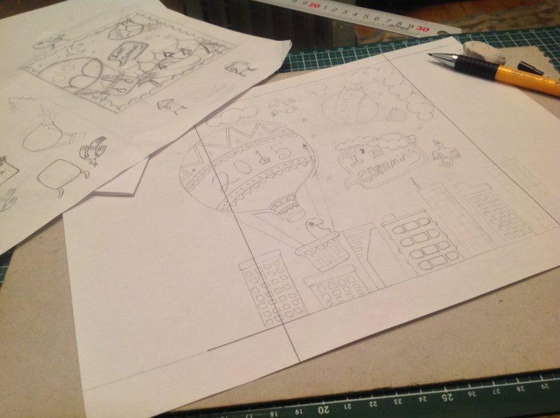 Thumbnail & final Sketch