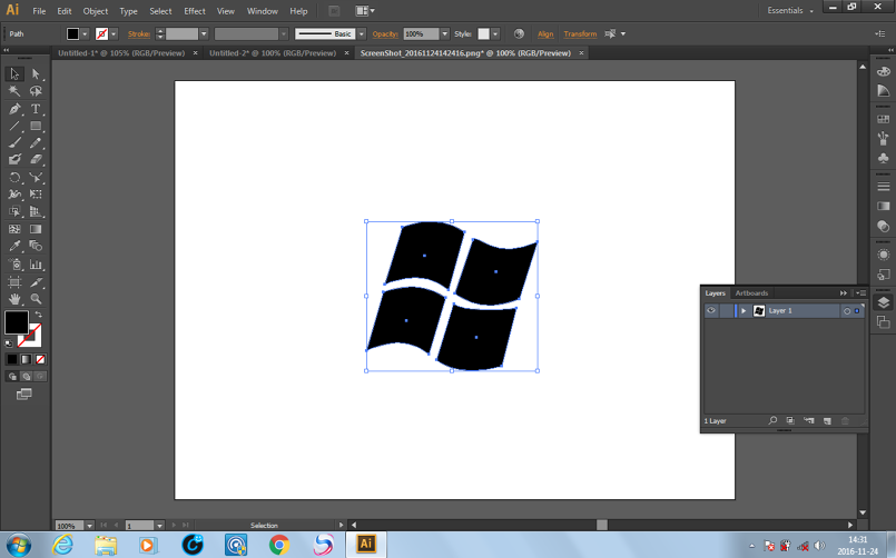 Windows White And Black Logo