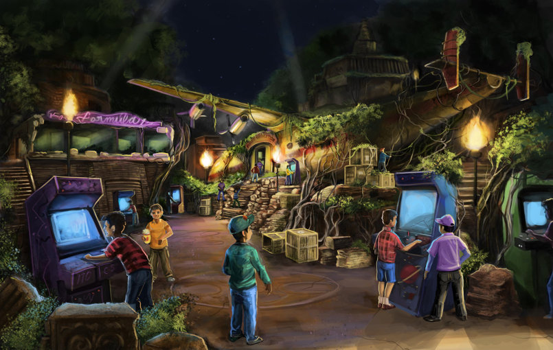 Arcade games zone concept for theme park
