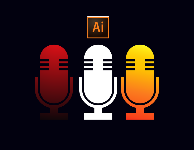 Adobe Illustrator | Vector Microphone
