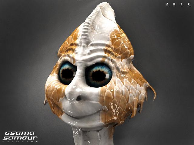 happy-weird alien character