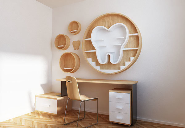Dentist Tooth Shelf
