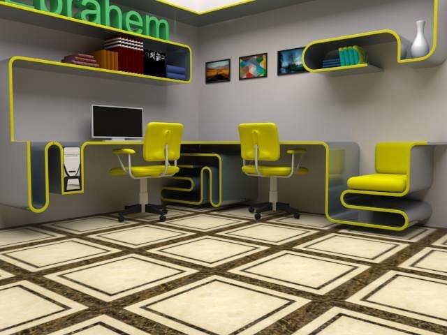 تصميم الغرفة الشخصية بالخامات