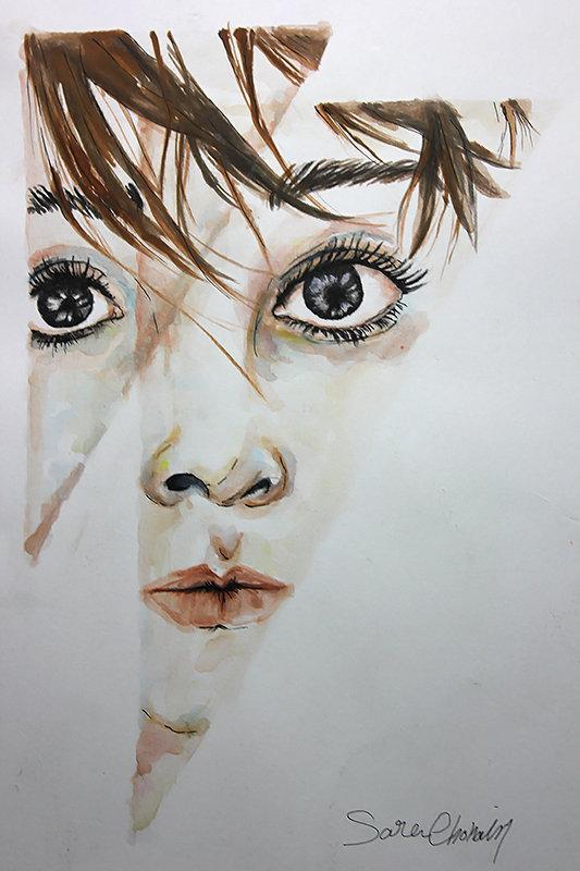 رسم - الوان مياة