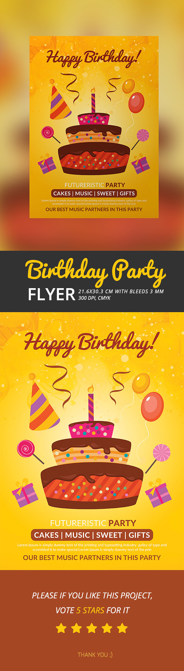 Birthday Party Poster/Flyer