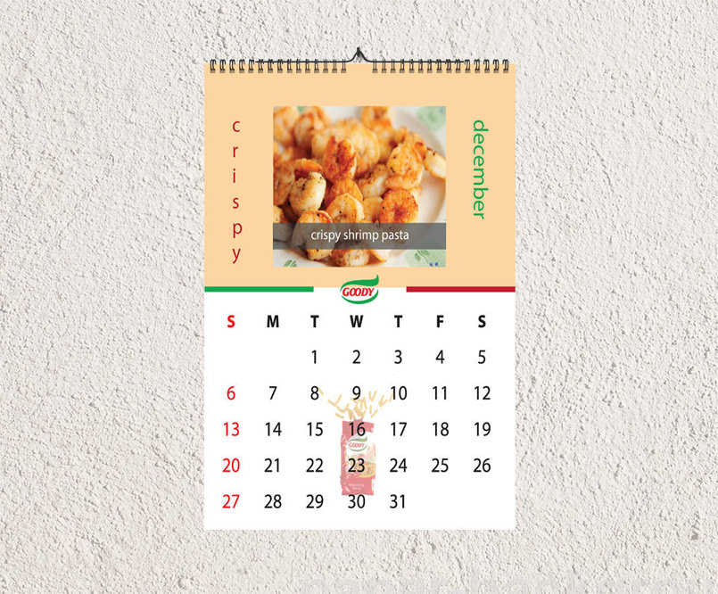 Goody Pasta Calendar Mockup
