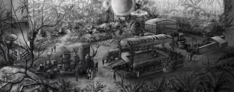 Garden concept for theme park