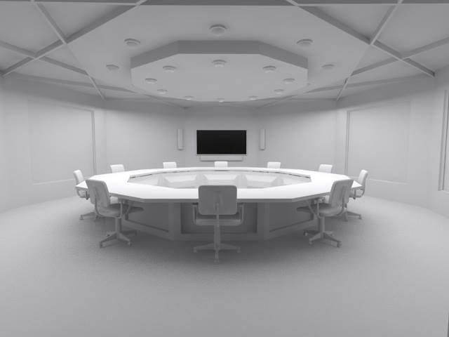 قاعة مؤتمرات واجتماعات بدون خامات