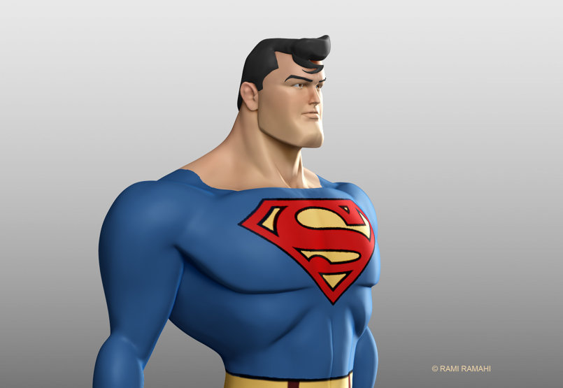 fan art study of the 1996 superman animated series.