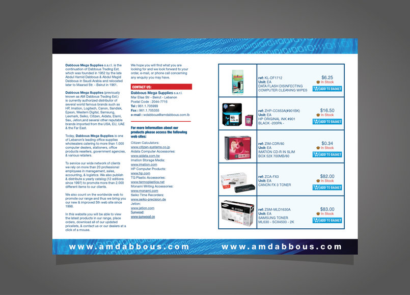 Brochure promoting for the company website  Flat size: A3