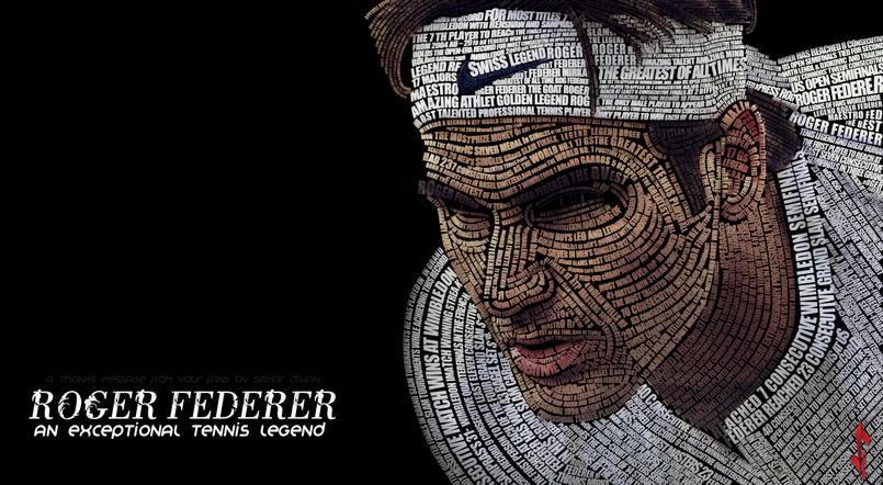 Roger Federer typography