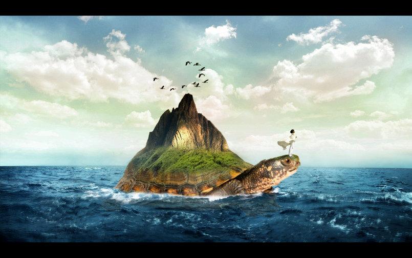 Turtle Island photoshop tutorial