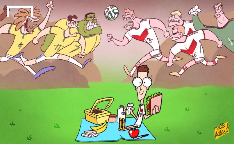 اوزيل ملام على مستواه Ozil slammed for 'walking' through World Cup