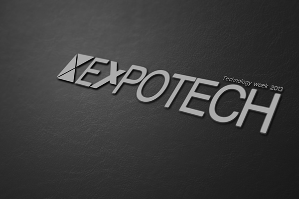 Expotech Technology week logo design