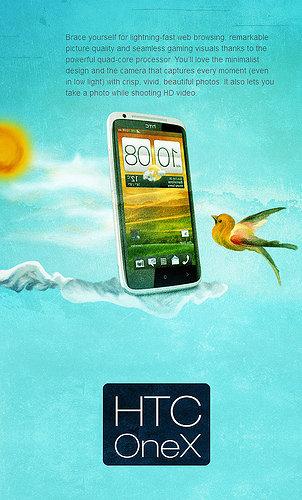 HTC-OneX اعلان جوال نقال