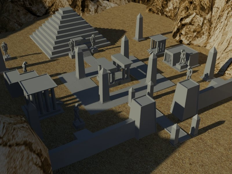 Egyptian Necropolis2 (work in progress)