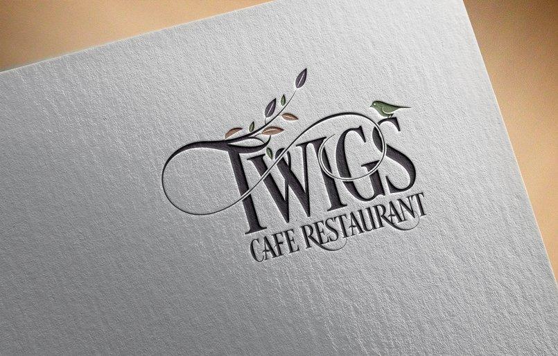 A creative logo design for Twigs Cafe Restaurant (USA)