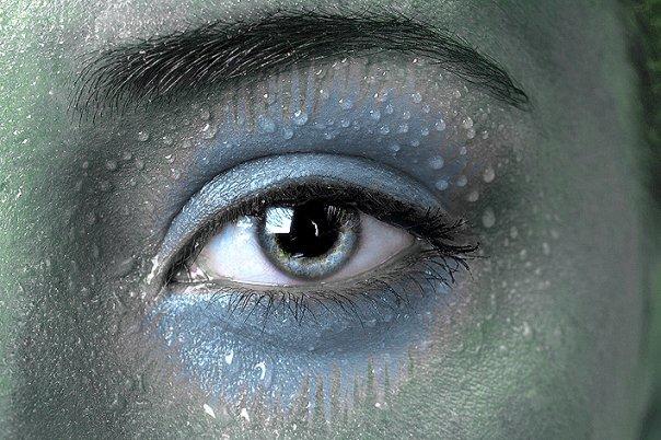 Wet eye