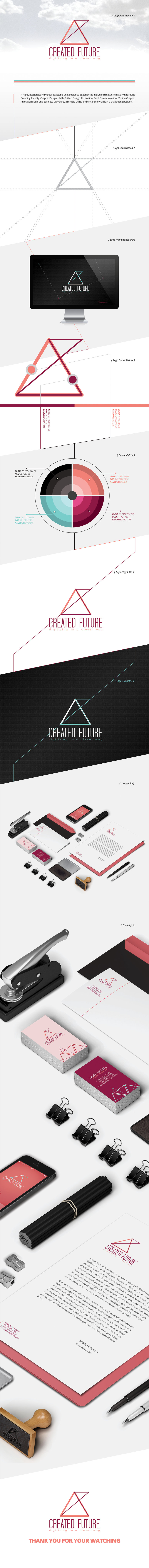 Corporate Identity For Created Future Co.