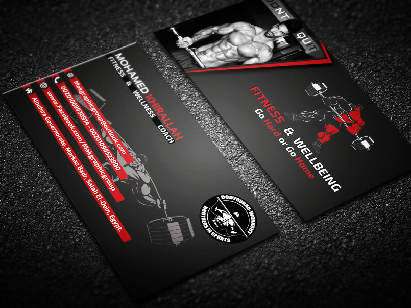 Creative Fitness & Bodybuilding Business Card - By ...