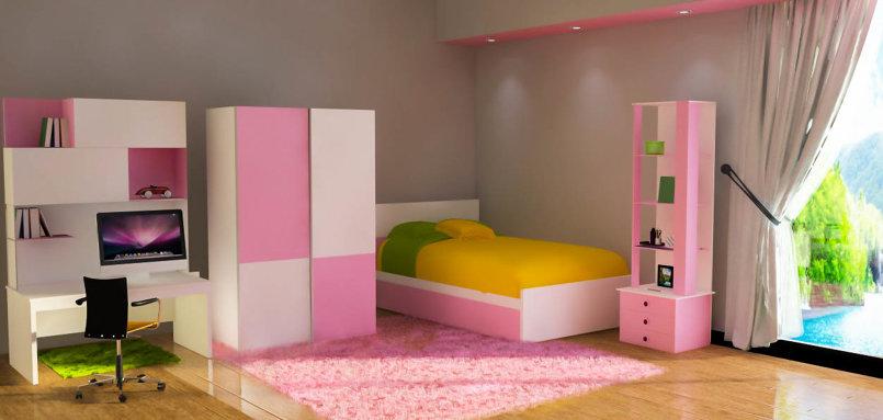 chambre fille 3D