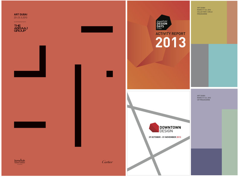 Art Dubai VIP and Collectors' Circle Programme guides; Design Days Dubai Activity Reports; Downtown Design Catalogues