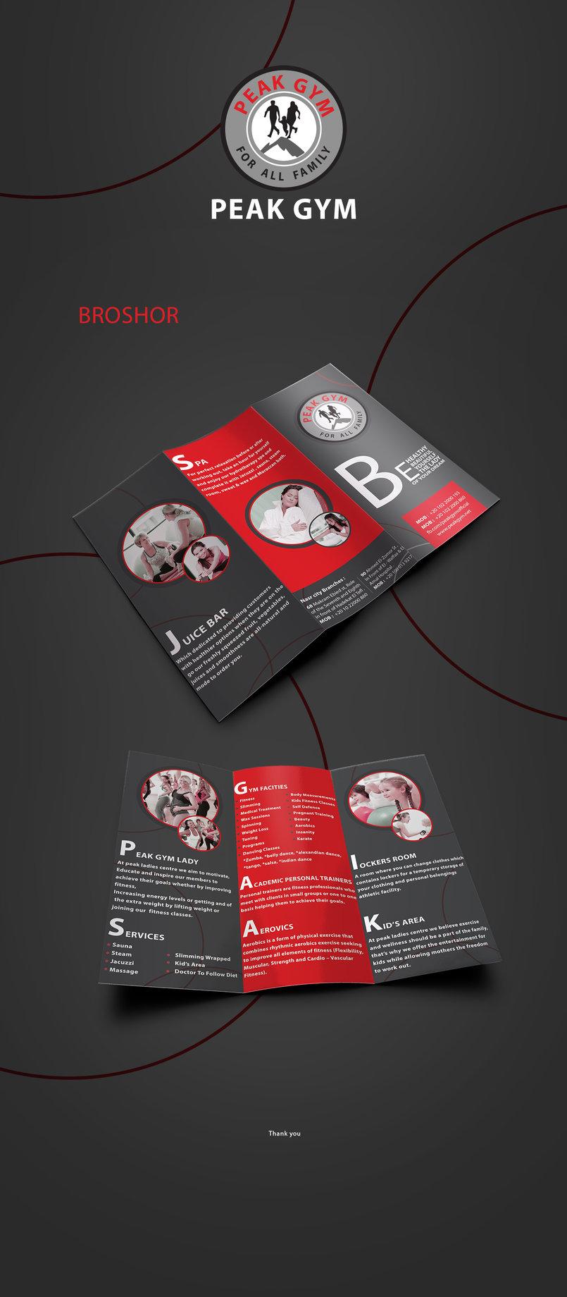 peak gym brochure