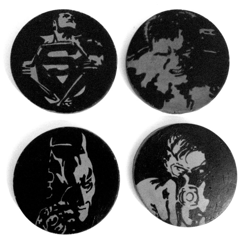Handpainted Concrete Coasters