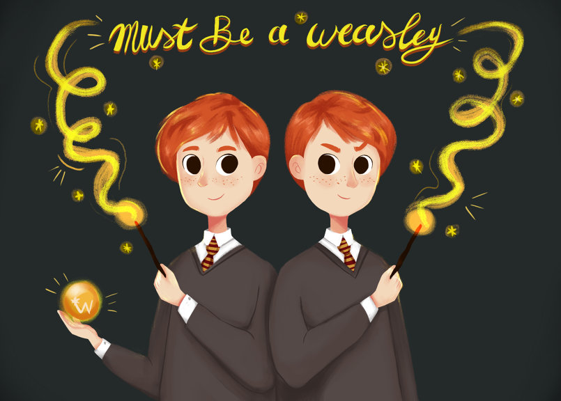 "Day 2:  ""must be a Weasley"""