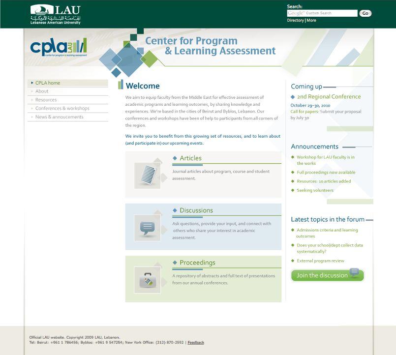 LAU- CPLA website