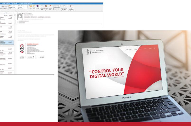 website & email signature design