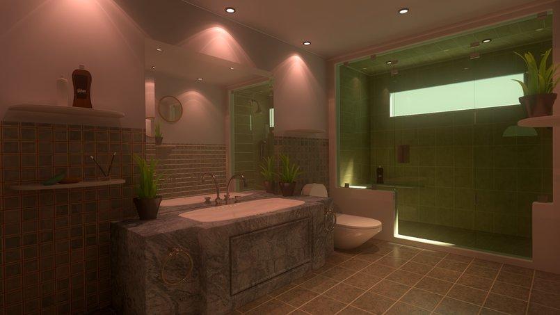 تصميم داخلي لحمام عصري